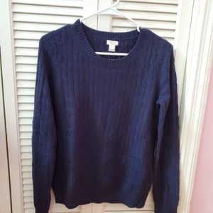 NWT JCrew factory cable knit wool blend sweater